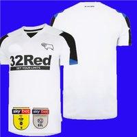 21 22 Jerseys de fútbol de Derby County Rooney Home White 2021 2022 Camisetas de fútbol Lawrence Bogle Waghorn Maillot Camisa de fútbol Bielik Top Tailandia Calidad