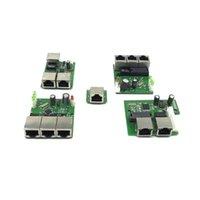 Fábrica direta mini rápida 10 / 100mbps 3 portas rede ethernet rede lan hub placa de interruptor de duas camadas PCB 3 RJ45 5V 12V cabeça porta walkie talkie
