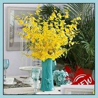 Dekorative Kräne Festliche Vorräte GardenVintage Künstliche Blumen Oncidium Hybridum 98 cm / 38,6 inch Phalaenopsis für Party Home Hochzeit