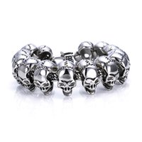 Skull Fashion Titanium Steel Titanium Steel Bracelet Men's Necklace Trend Punk Personality Student Hand Accessories