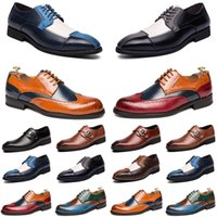 2021 designer men casual shoes black brown red loafers Outdoor flat slip on fashion mens trainers sneakers size 40-47 color36