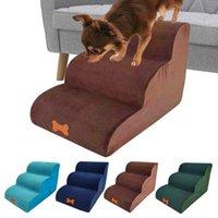 أرقام الكلاب ثلاث طبقات الكلب الدرج سلم الحيوانات الأليفة الجرو الحيوانات الأليفة القطط التدريب خطوة منحدر أريكة سرير للكلاب اللعب