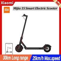 (включая НДС) ЕС на складе Xiaomi Mijia Electric Scooter 1S Mini Smart складной Longboard Rovious 30KM аккумулятор 250 Вт мотор китайская версия с адаптером евро