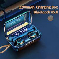 Oringinal F9-V5.0 Bluetooth 5.0 Earphones TWS Fingerprint Touch Headset HiFI Stereo In-ear Earbuds Wireless Headphones for sport