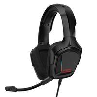 Cuffie da gioco Onikuma K20 con microfono RGB Light Wired Headsets Auricolari Annullamento del rumore Auricolari per PS4 Xbox One Gamer per cuffie