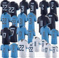 22 Деррик Генри 2 Джулио Джонс Футбол Джерси 11 AJ Brown 17 Ryan Tannehill 31 Kevin Banard Высококачественные мужские трикотажные изделия