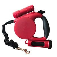 Pet Automatic Retractable Traction Rope Dog Supplies LED Light Reflective Tractor Collars & Leashes