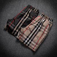 Herren Shortsmen's Shorts Check Herren Koreanischer Slim Schnelltrockner Drei-Punkt-Hosen Sommer tragen Große Mode-Marke Ins Shorts Trend Persönlichkeit