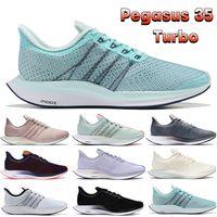 Zoom Men Pegasus 35 Turbo Running Shoes Jade Voile Blanc Noir Vaste Gris Blue Blue Hero Blackened Mode Mens And Baskets Femmes Sneakers