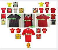 Retro Gerrard Rush Dalglish Classic Soccer Jersey 81 84 85 86 89 90 91 92 93 94 95 96 97 98 Fußball-Hemd