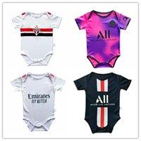 2020/21 Baby Jersey Fútbol Monga de manga corta 20 21 Peligro Ramos Asensio Mbappe Higuain 6-18 meses Jersey de fútbol de bebé