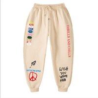 Pantaloni da uomo Travis Scott Autunno Inverno Uomini Donne Astroworld Lettera stampata Jogging Hip Hop Streetwear SweatPants Pantaloni