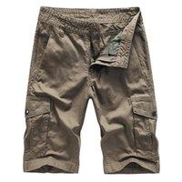 Erkek şort erkekler serin yaz pamuk rahat kısa pantolon marka giyim Rahat kargo büyük boy