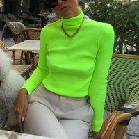 New Turtleneck Long Sleeve Autumn Top Women Fashion Pullovers Slim Casual Knitted T shirt Women Streetwear Women Tshirt 2018