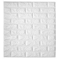 Art3D 11-Pack Peel and Stick 3D Wallpaper-Paneele für Innenwand Dekor Selbstklebende Schaumziegel-Wandbilder A06003
