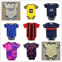 Camiseta de bebé 2122 Jersey de bebé  camiseta de fútbol para niños de 6 a 18 meses camiseta de fútbol con traje de arrastre