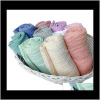 Aden Anais Swaddles Muslin Baby Couvertures Sous Serviettes de bain Crops de pépinière Literie Née Swadding de coton Parisarc Robes Quilt Po Prop QVQ6 Lzaal