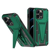luxury two-in-one phone cases anti-drop fine hole magnetic protective cover armor back covers bracket mobile cellphone case for iPhone13 12 shell accessories