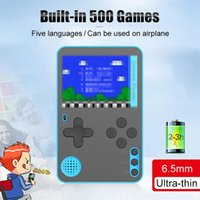 Portable Game Players 500 Mini Video Console Retro For Kids 2.4 Inches Handheld Ultra Thin