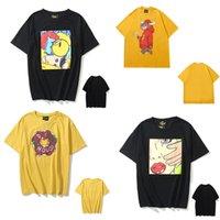 T-shirt das mulheres Justin Bieber Smiley Face Impressão dos desenhos animados pequenos dinossauro homens casuais e mulheres casal solto redondo pescoço manga curta 0102