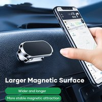 Mini F16 Magnetic Car Phone Holder Stand for Smartphones 12 pro Max Wall Metal Magnet GPS Car Mount Dashboard