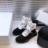 Designer Sportschuhe High-Top Trainer Schwarz-Weiß-Nähte Mode Flache Socken Stiefel Freizeitschuhe Damen Outdoor Lace-up Flache Schuhe