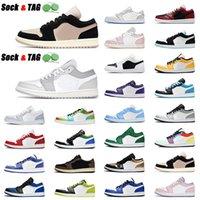 2021 أعلى الأزياء حذاء رياضة 1 ثانية منخفضة كرة السلة أحذية رجالي إمرأة الدخان الرمادي الفيل كورت بيربل جامعة الذهب jirgman 1 المدربين الرياضة 36-45