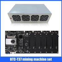 Schede madri BTC-T37 1850W ETH Mining Macchina elettrica Impostazione dell'alimentazione elettrica 4G DDR3 Memory VGA + -Compatible 128G Msata SSD CPU Scheda madre per