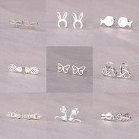 الفضة الاسترليني دبوس الحيوانات لطيف، الأقراط الصغيرة والرائعة، والأقراط هي هدية السنة السنة في 2021 عشيق