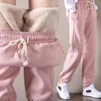 Winter Women Gym Sweatpants Workout Fleece Trousers Solid Thick Warm Female Sport Pants Running Pantalones Mujer Women's & Capris