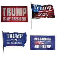 モダンでエレガントなファッション旗のキャンペーン米国大統領2024トランプデザインダイバーシティ選挙フラグドレンわずみ1時間90 * 150cm 9YY y2