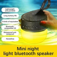 Night Lights Atmosphere Light Speaker Mini Portable Multifunctional Outdoor Waterproof Smart LED Bluetooth For Home Party