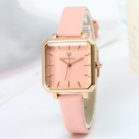 Luxury Watches For Women Fashion Square Quartz Watch With Leather Strap Waterproof Simple Ladies Relogio Feminino Wristwatches