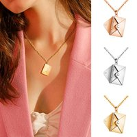 Chains Love You With Envelope Pendant Necklace For Women Girls Simple Modern Jewelry Gift Mother's Day Party