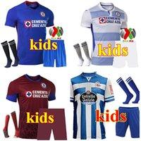 Kit Kids 2021 CD Cruz Azul Soccer Jerseys Pelleys Rosa Away Away 20 21 Alvarado Rodriguez Pineda Escobar Romo Jersey Camicie da calcio Abbigliamento all'aperto