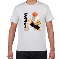 Anime Haikyuu T-shirt Kawaii Karikatür Karakter Baskı T Gömlek Erkekler Nedensel Tops Yaz O-Boyun Kısa Kollu Harajuku Ulzzang Giysileri Erkek T-Shi