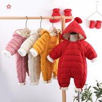 Jumpsuits Keelorn Born Baby Jumpsuit Hooded Plus Velvet Warm Boys Snowsuit Toddler Snow Suit Girl Cotton Overalls Rompers