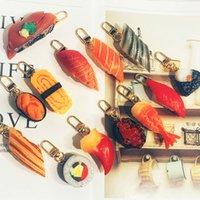 2021 مضحك محاكاة الغذاء مفتاح سلاسل السوشي نموذج سلاسل المفاتيح اليابانية المطبخ حقيبة قلادة طالب هدية الإبداعية سلسلة المفاتيح
