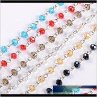 Autres perles de verre de verre à la main à la main à la main pour bricolles bracelets Bracelets MakeUnweldMix Couleur 393 6x45mm 54YHU M2FWP