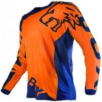 Yarış Setleri Erkek MTB Off-Road Yokuş Aşağı Bisiklet Jersey Uzun Kollu Motosiklet Spor Dağ Ekipleri için Uygun