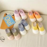 First Walkers Kawaii Non-slip Soft Bottom Infant Baby Shoes Toddler Indoor Comfortable Summer Casual Elastic Socks Shoes#40