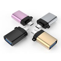 Mini USB 3.0 Female to Type C Male OTG Adapter Aluminum alloy Material High Quality Cell Phone Accessories Portable Connectors Converters for Tablet PC Smartphones