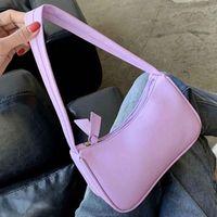 Women Subaxillary Underarm Vintage Shoulder Fashion Mini Small Retro Handbag Casual PU Leather Ladies Top Handle Bag