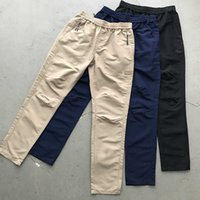 Fashion Street men's and 2019 women's sport loose tricolor functional woven trousers