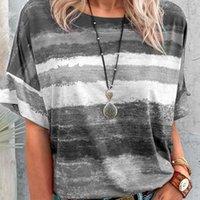 Moda Yaz Kadın Baskılı Kısa Kollu T-Shirt Mujer Rahat Gevşek T-shirt Camisetas Kadın Yuvarlak Boyun Boy De Patc T0s6 Kadınlar