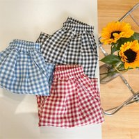 Trousers 2021 Style Girls Boys Plaid Pants Summer Fashion Kids Clothes 3-8 Years