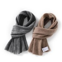Hats, Scarves & Gloves Sets 100% Pure Cashmere Knitted Scarf Women Soft Warm 160*25cm 4Colors 2021 Arrival Winter Ladies