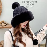 2021 new plush thickened wool hat children's winter lovely warm ear protection knitted hats Lei Feng Cap Beanie exquisite fashion design high-end grade