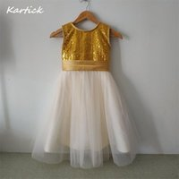 Girl's Dresses Fashion Flower Girl For Wedding Brand Little Girls Kids Child Dress With Bow Birthday Party Pageant Communion