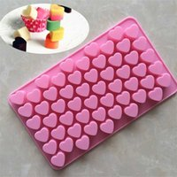 Baking Moulds 55 Heart DIY Mold Colors Epoxy Resin Silicone Food Biscuit Cake Chocolate Waffle Snack Molds 2 2 SHOB